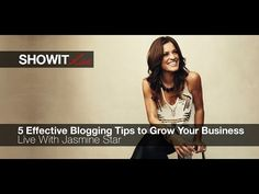 ▶ Live with Jasmine Star: 5 Effective Blogging Tips to Grow Your Business - YouTube