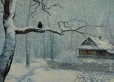 Frosty Morning: A Winter Painting by Igor Ropyanyk, Ukranian Artist  (Two different paintings were identified by the same title.)