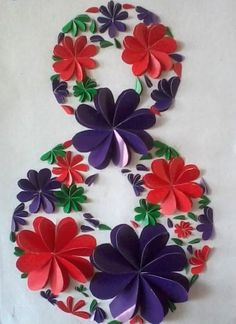 Many options for postcards, paintings, colors .- Many options for cards, paintings, floral arrangements and various souvenirs … - Paper Flowers Craft, Paper Crafts Origami, Flower Crafts, Diy And Crafts, Crafts For Kids, Arts And Crafts, Tall Flower Arrangements, Quilling 3d, Paper Toys