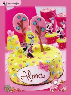 Torta Minnie Mouse #cumpleaños #torta #minnie descarga la ficha con las instrucciones en www.eviadigital.com categoria #pasteleria