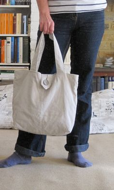 Upcycled Sand Needlecord Bag