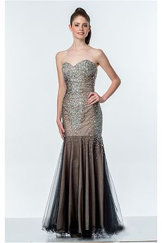 Exquisite Long Tulle Sweetheart Sleeveless Prom Dresses