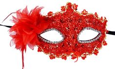 Red Lace W Rhinestone Liles Venetian Mask Masquerade Halloween Costume From Y 2 B for sale online Masquerade Halloween Costumes, Masque Halloween, Masquerade Party, Venetian Masquerade Masks, Party Eyes, Lace Mask, Red Lace, Costume Accessories, Fancy