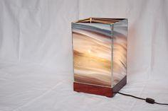 "Prana 13"" Art Glass Lamp - Enigmatic Violet on Purpleheart by Szal Design, $1,687.50"