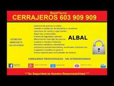 Cerrajeros Albal 603 909 909 Baratos