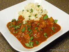 Hello Jody: HCG Phase 2 - Chicken Vindaloo with Miracle Rice or Cauliflower Hcg Chicken Recipes, Hcg Diet Recipes, Healthy Recipes, Hcg Meals, Vegetarian Recipes, Paleo Diet, Potato Recipes, Vegetable Recipes, Phase 2 Hcg Recipes