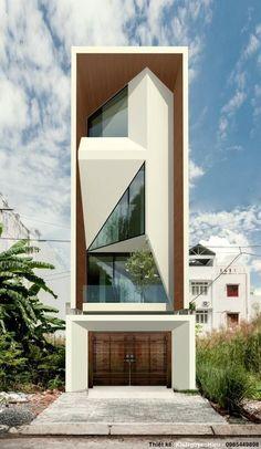 Concept Architecture, Futuristic Architecture, Facade Architecture, Residential Architecture, House Front Design, Modern House Design, Small House Design, Facade Design, Exterior Design