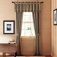 curtains for the basement (Kohls - Chaps Palmetto Striped Window Treatments)