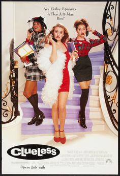 Watch Clueless full hd online Directed by Amy Heckerling. With Alicia Silverstone, Stacey Dash, Brittany Murphy, Paul Rudd. A rich high school student tries to boost a new pupil's popularity, Teen Movies, Iconic Movies, Good Movies, Indie Movies, Classic 90s Movies, 1990s Movies, Girly Movies, Comedy Movies, Clueless 1995