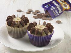 Cadbury Fairtrade chocolate banana flower cupcakes