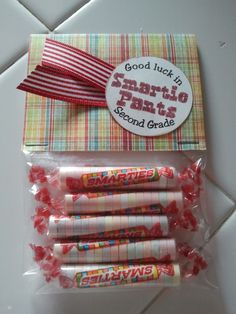 I was searching the blogsphere for a cute and fun treat to put in my kids lunch bag on the first day of school. When I found this idea H...