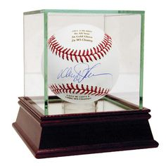 Davey Johnson Autographed and Engraved Career Stats MLB Baseball (MLB Auth)