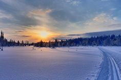 Because there's nothing quite as peaceful as cross-country skiing over a frozen lake.