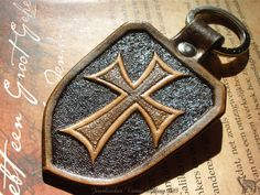 Handmade by Jeweleeches! Leather Carving, Leather Art, Leather Gifts, Custom Leather, Leather Tooling, Leather Key Holder, Leather Lanyard, Leather Keychain, Leather Bookmark
