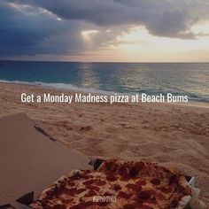 Ease into the week with pizza specials Stuff To Do, Things To Do, Pizza Special, Beach Bum, Let It Be, Water, Outdoor, Instagram, Water Water