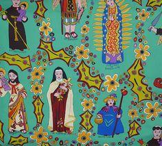 Los Sanctos. Love the Mexican flavor of this fabric!