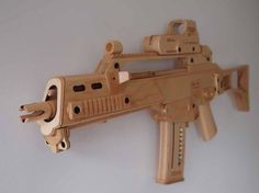 Splinter-Sell (a clever pun on the computer game Splinter Cell) is the onlineEtsystore run by UK artistJenniEdwards.Jennibuilds replica guns from wood, mainly maple and birch. The FN SCAR replica pictured below features a magazine release, adjustablebutt-stock, moving cocking lever, and a trigger that drops an internal hammer. The parts are laser cut and assembled by …   Read More …