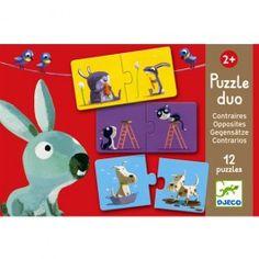 puzzel duo verschillen (12x2st) djeco | ilovespeelgoed.nl