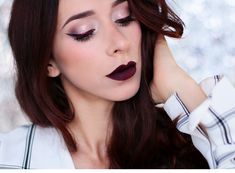 Alina Rose Makeup Blog: PRZED I PO : Makijaż z kreską Nabla Cruel Jewel i szminka Bad Boy.
