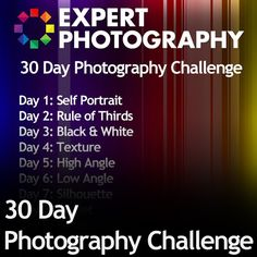 The road to me becoming a better momtographer is paved with amazing tips on Pinterest.    30 Day Photography Challenge.
