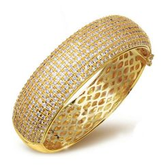 Milano - CZ Diamond Platinum / Gold Bangle