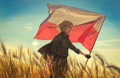 ~Kakimora~ — Today is the hundredth anniversary of Poland. Hetalia Romania, Hetalia Fanart, Hetalia Anime, Latin Hetalia, Hetalia Characters, Hetalia Axis Powers, Amazing Drawings, Central Europe, Spamano