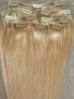 20 inches 7pcs Clip In Human Hair Extensions 22 Ash by Hairfauxyou, $74.99