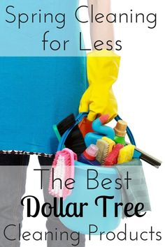 The only thing worse than cleaning is having to spend money on cleaning supplies. Find out how I save by using cleaning products from the Dollar Tree.