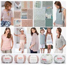 5 novelties of the Katia Spring Summer 2017 Collection Laine Katia, Aqua Rose, Antique Roses, Knit Fashion, Pastel Pink, Color Inspiration, Blog, Spring Summer, Knitting