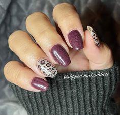 Cheetah Nail Designs, Cheetah Nails, Toe Nail Designs, Ibd Just Gel Polish, Gel Polish Colors, Nail Colors, Pretty Gel Nails, Wine Nails, Nail Color Combos