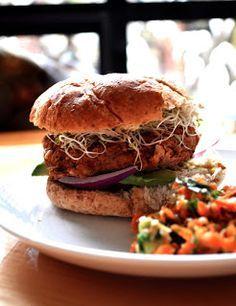 Spicy Mexican Veggie Burgers - vegan and gluten free