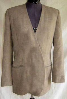 Giorgio Armani Blazer Jacket Vintage NOS Blazer Minimalist Slim Fitted Wool L