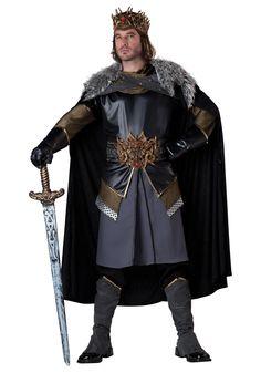 CA511 Mens Dark Royal Prince King Costume Evil Fairytale Villain Halloween Goth