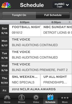 NBC for iPhone and iPad
