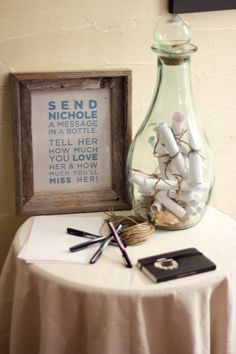 K. Technically this is for a missionary, but I really like this idea for a wedding reception!
