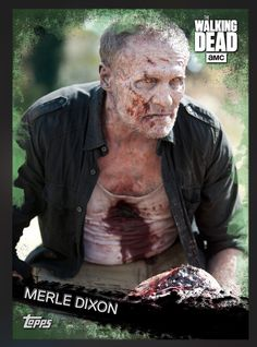 Merle Dixon (Green Parallel) Base Card The Walking Dead 2016 Topps