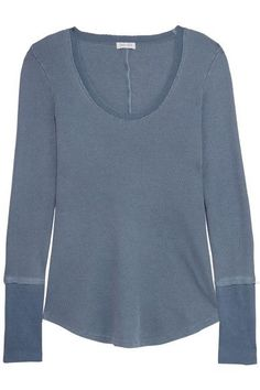 Splendid - Nordic Waffle-knit Stretch Supima Cotton And Micro Modal-blend Top - Petrol - x large
