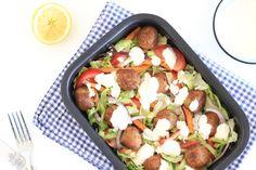 Vegetarische kapsalon met falafel