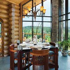 Milled Log Cabin Din