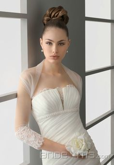 Modische weiße Tüll Boleros Ärmel 40 cm Accessories für Hochzeitskleider-Braut Boleros