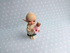 Miniatur OOAK Baby Welpen - BUNDLEBABY 3,5cm Puppenstube 1:12 REAPLUKI Toy, Geschenk Geburt Taufe Handgemacht Unikat von YuliyasOOAKdolls auf Etsy