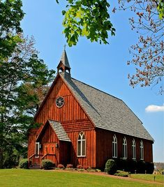 Red country church, charming!