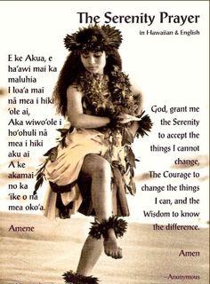"""The Serenity Prayer"" in Hawaiian and English"