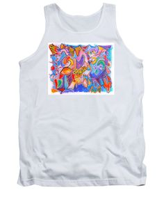 Purchase a tank-top featuring the image of Carnival by Expressionistartstudio…