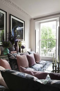 The London Home of Florist Nikki Tibbles. A fine example of using the colour pink.