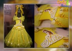 Girl Hair Bows, Girls Bows, Princess Belle Hair, Bow Bouquet, Tutu Bow Holders, Belle Hairstyle, Hair Accessories Storage, Disney Dresses, Disney Crafts