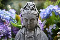 Kuan Yin Concrete Statue Goddess Quan Yin Kwan Yin by PhenomeGNOME, $89.99