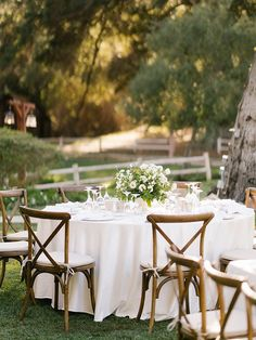 La Tavola Fine Linen Rental: Chelsea Natural with Tuscany White Napkins and Chair Cushions | Photography: Bryan N. Miller Photography, Design & Florals: Carla Kayes Floral Design, Venue: Temecula Creek Inn, Tabletop: The Ark Event Rentals and To Be Designed
