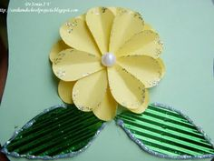 Cards ,Crafts ,Kids Projects: Heart Punch Daisy Flower Tutorial