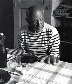 "Picasso practically made it his uniform.The classic Breton fishing shirt, or ""marinière"" to the French, is made of a thicker cotton jersey, with a boxy shape and dropped shoulders. And although I have owned many stripey shirts, my favorite is the genuine article which I bought from a Brittany shop five or six years ago. I had to have the real deal.  French designers Sonia Rykiel and Jean Paul Gaultier regularly have some version of the French stripey thing."